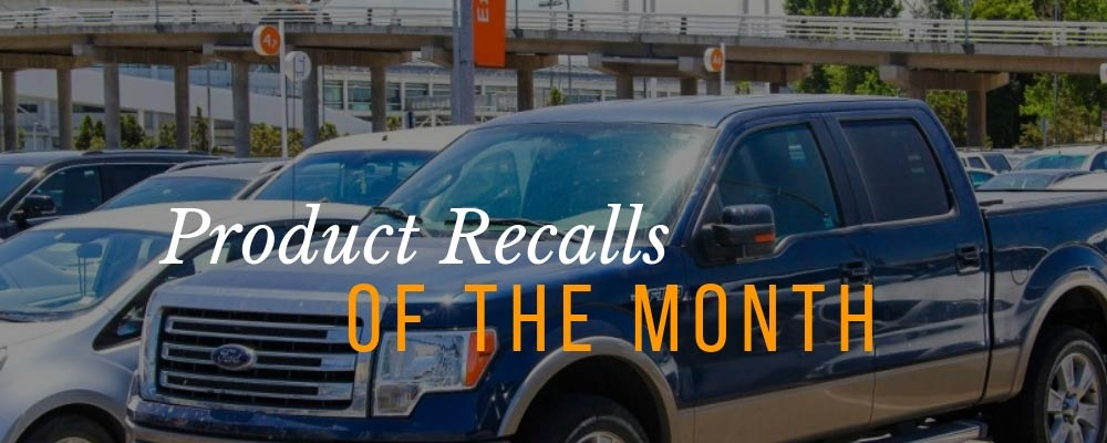 September 2018 Product Recalls of the Month
